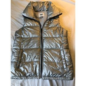 Silver Old Navy Winter Vest
